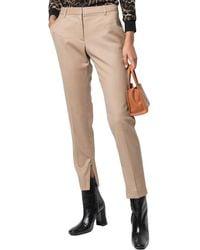 Nili Lotan Leo Pleat Front Wool-blend Trouser Pant - Multicolor
