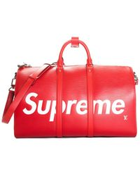 Louis Vuitton Red Leather Keepall 45, Never Carried