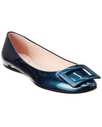 Roger Vivier Gommette Patent Ballerina Flat - Blue