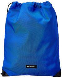 Balenciaga Explorer Drawstring Backpack - Blue