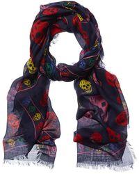 Alexander McQueen Skull Wool-blend Scarf - Multicolour