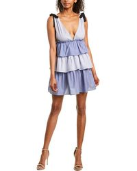 Romeo and Juliet Couture Patchwork Mini Dress - Blue