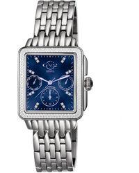 Gv2 Bari Multi Function Diamond Dial Swiss Quartz Watch - Multicolor