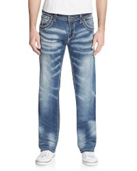 Affliction Ace Standard Straight-leg Jeans - Blue
