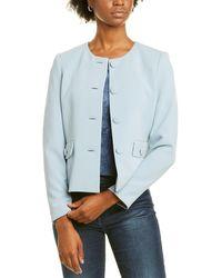 Karl Lagerfeld Double Weave Jacket - Blue