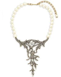 Heidi Daus - Deco Faux Pearl And Crystal Necklace - Lyst