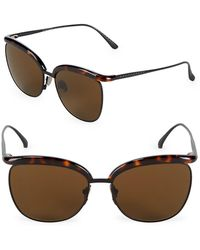 Bottega Veneta | 57mm Clubmaster Sunglasses | Lyst