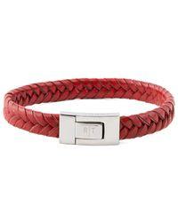 Tateossian Stainless Steel Bracelet - Red