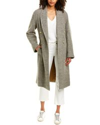 Vince Pebble Textured Wool-blend Coat - Multicolour