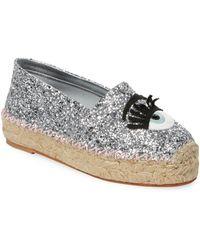 Chiara Ferragni Glitter Slip-on Espadrille - Metallic