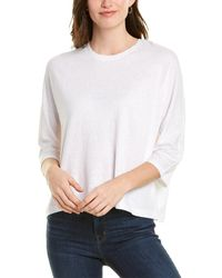 Vince Dolman Linen-blend T-shirt - White