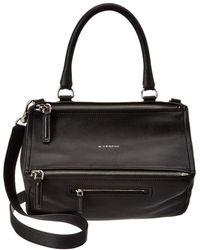 Givenchy Pandora Medium Leather Shoulder Bag - Black