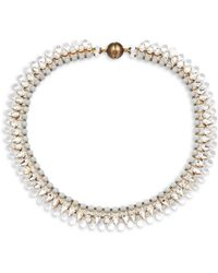 Tataborello - Crystal Studded Choker Necklace - Lyst