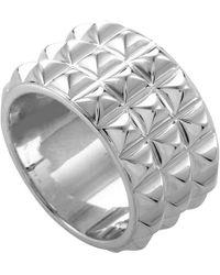 Hermès - Pyramid Silver Ring - Lyst