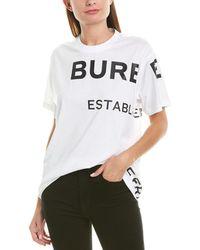 Burberry Horseferry Oversized T-shirt - White