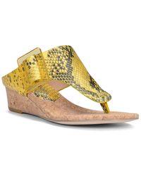Donald J Pliner Oltina Leather Wedge Sandal - Metallic