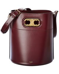 Celine Maillon Triomphe Leather Bucket Bag - Multicolour
