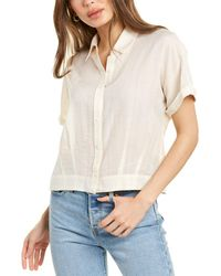 Theory Cropped Button-down Shirt - White
