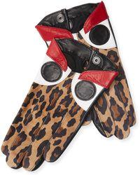 Maison Fabre - Leopard Eyes Gloves - Lyst