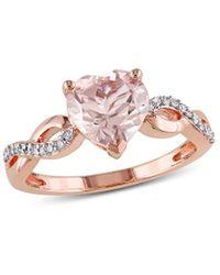 Rina Limor 10k Rose Gold 1.79 Ct. Tw. Diamond & Morganite Engagement Ring - Pink