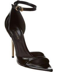 Versace Leather Sandal - Black