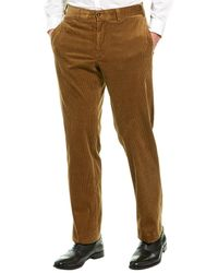 Bills Khakis Stretch 9 Wale Classic Fit Corduroy Pant - Brown