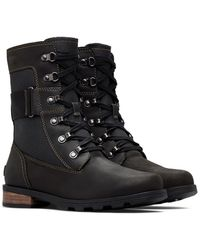 Sorel Emelie Conquest Waterproof Lace-up Boot - Black