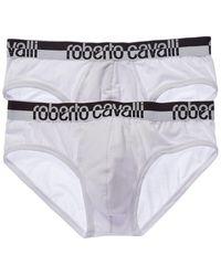 Roberto Cavalli 2pk Brief - White