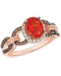 Le Vian ? 14k Rose Gold 1.01 Ct. Tw. Diamond & Fire Opal Ring - Multicolour