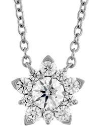 Hearts On Fire 18k 0.45 Ct. Tw. Diamond Aerial Cluster Pendant Necklace - Metallic