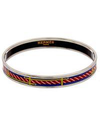 Hermès Printed Enamel Narrow Bangle - Multicolor