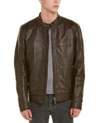 Belstaff A.racer Leather Jacket - Brown