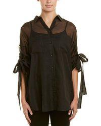 IRO Sheer Silk & Cashmere-blend Blouse - Black