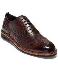 Cole Haan Morris Wingtip Leather Oxford - Brown
