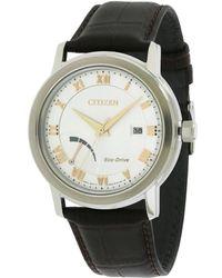Citizen Men's Leather Watch - Multicolour