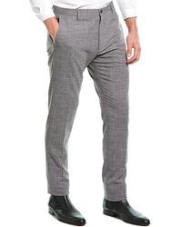 Zanella Noah Wool & Linen-blend Dress Pant - Grey