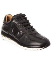 a9983a572e Lyst - Ferragamo 20mm Morgan Leather Sneakers in Black