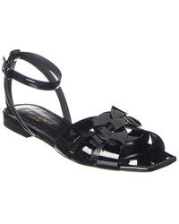 Saint Laurent Tribute Patent Sandal - Black