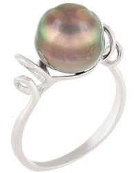 Splendid - Silver 8-9mm Tahitian Pearl Ring - Lyst