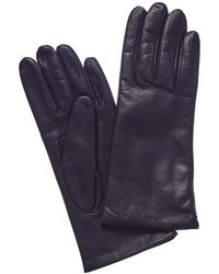 Portolano - Navy Cashmere-lined Leather Gloves - Lyst