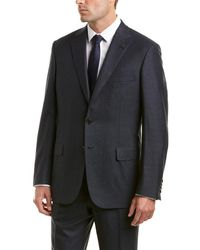 Brioni 2pc Wool Suit With Flat Pant - Blue