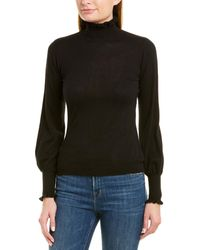 Autumn Cashmere Turtleneck Cashmere Jumper - Black