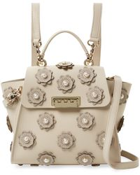 Zac Posen - Eartha Iconic Convertible Backpack With Floral Applique - Lyst
