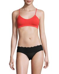 Free People - Ribbed Racer Back Soft Bra - Lyst