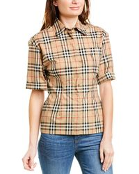Burberry Vintage Check Stretch Shirt - Brown