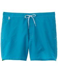 Sundek Bs/rb Contour Waist Swim Trunk - Blue