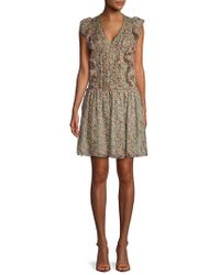 Zadig & Voltaire Rimana Printed Deluxe Silk Dress - Natural