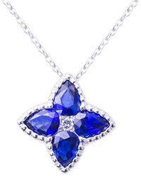 Suzy Levian 18k 1.17 Ct. Tw. Diamond Pendant Necklace - Blue
