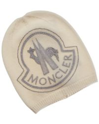 Moncler Wool & Cashmere-blend Hat - White