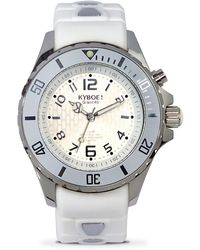 Kyboe - Power Silver Ghost Stainless Steel Analog Strap Watch - Lyst